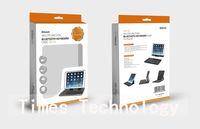 5pcs/lot 360 Degree Rotatable Wireless Bluetooth  Keyboard for iPad Air ,Detachable Bluetooth Keyboard For iPad 5, free shipping