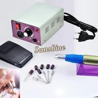 Electric Nail Manicure Polishing Machine Drill File Machine with Foot Pedal(110V/220V, US Plug) 1492