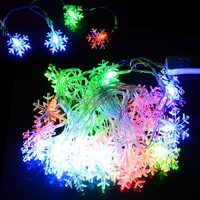 NEW 2014 Snowflake Holiday Lights String Fairy Light Xmas 5M 28 LED Party New Year Decorative Light 100-240V US Plug TK1336