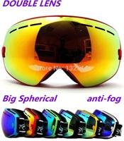 New brand ski goggles double lens anti-fog big spherical professional ski glasses unisex multicolor snow goggles SNOW3100