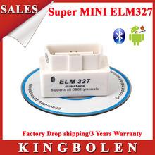 2014 Top Selling SUPER White MINI ELM327 Bluetooth OBD2 V2.1 Universal OBDII Car Diagnostic Scanner Super  ELM 327 Free Shipping(China (Mainland))