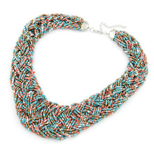 Fashion Short Temperament Of Bohemia Bead Necklace  Sweater Chain  Fashion Jewelry Wholesale