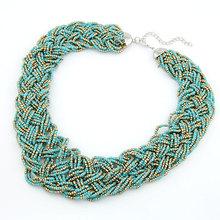 Fashion Short Temperament Of Bohemia Bead Necklace Sweater Chain Fashion Jewelry Wholesale