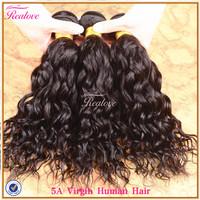 "Human Hair brazilian virgin hair natural wave 4pc 8""-30""  5A unprocessed virgin brazilian hair extension Brazilian natural wave"