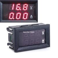 6pcs/Lot Wholesale DC 0-100V 10A Dual Red Led Voltage Meter Current Meter Ampere Panel Meter Digital Voltmeter Ammeter lTK1381