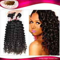 6A Brazilian Virgin Hair Kinky Curly Weaves Virgin Human Hair Natural Black 4/5 Pc Lot Brazilian Deep Wave Kinki Cur Virgin Hair
