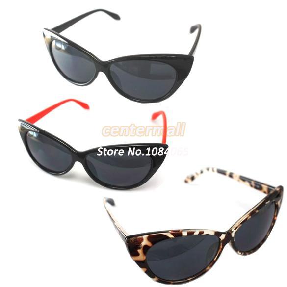 Hot Selling 2014 Black, Red, Leopard Cat Eye Sunglasses Ladies Women Fashion Vintage Sunglasses Drop Shipping #7 5465(China (Mainland))