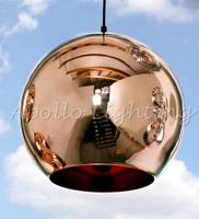 NEW Tom Dixon Copper Shade Mirror Chandelier Ceiling Light E27 LED Pendant Lamp Bulb Modern Christmas Glass Ball Golden Lighting