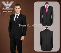 Hot sale suits for men boss mens suit black blue light blue cotton two pieces coat+pants XS-4XL