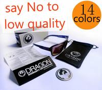 with case 14 colors dragon sunglass  dragon jam sunglasses optics dragon eyewear glasses
