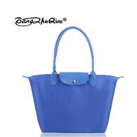2014 New  fashion women messenger bagsshoulder folding  solid color Women's leather Handbags dumplings casual