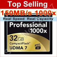 Brand Lexar 1000x 32gb cf card flash card 32 g capacity memory card compact flash card For Canon Nikon Casio Sony Digital Camera