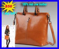 WOMEN HANDBAG 2014 Ancient Genuine leather women's fashion female brief shoulder bag oil cowhide handbag messenger bags