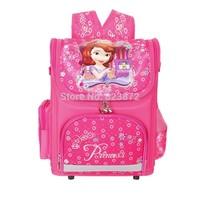 New 2014 School Backpacks for Girls Princess Sofia Bag WINX Monster High Backpack Waterproof Children School Bag Orthopedic