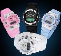 Skmei Unisex Casual Wristwatches Dual Time Digital & Quartz Multifunction Watch 30m Waterproof Student Sports Watches
