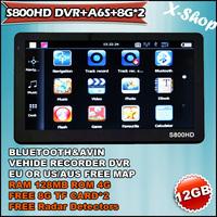 X-SHOP S800DVR+A6S+8G*2 Navigator+RADAR DETECTOR&DVR Video/Camera Recorder 8GB+8GB lastest MAPS Russia/Belarus/Ukraine/Brazil