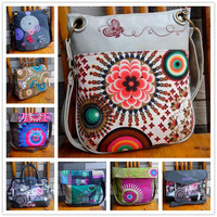 2014 hot DESIGUAL bag Fashion Style women handbag colorful women Shoulder bag women Messenger bag embroidered canvas  bag