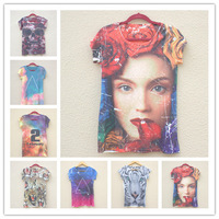 new spring 2014 summer leisure stars Fawn Harajuku t-shirt women's short-sleeved t-shirt top for women