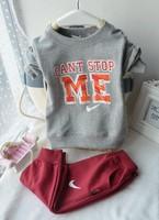 2014 Newest Baby Boy Cloth Suit Casual Sport letter Long-sleeve Cotton Infant Clothing set (T-Shirt+Pant) 2pcs/lot