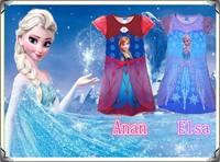 Clearance sale Frozen Dress Elsa's/Anna's Girl Princess Dresses Girl's Cartoon Children's Nightgowns Clothes Kids Wear