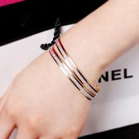 QQ Jewelry 5063 Scrub Rose Gold Bracelet hand ring Women bracelet female accessories