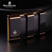 Designer Brand Fashion belts Luxury Quality cowskin Genuine Leather designer black strap men blet free shipping 0050Z