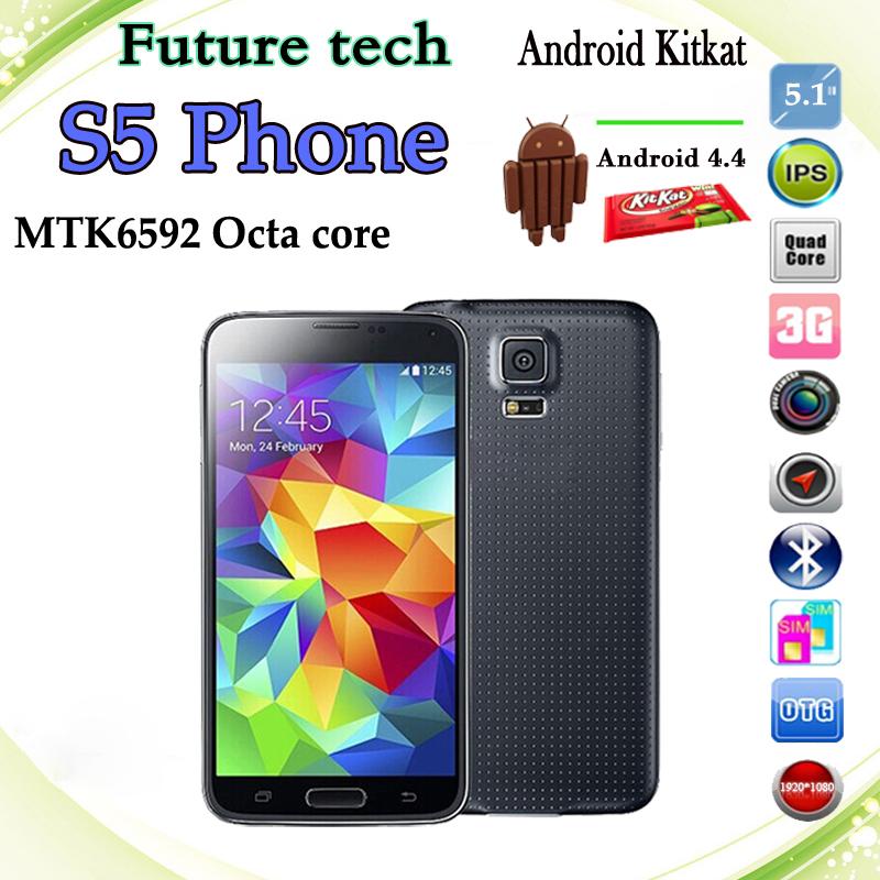 Update Add Really Fingerprint Original S5 phone 1920*1080p FHD I9600 Phone MTK6592 Octa core 16GB ROM 2GB RAM 16.0MP Waterproof(China (Mainland))