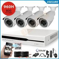 Home video surveillance security camera system 4ch 960h cctv dvr nvr hvr with 4pc 800tvl outdoor camera dvr kit hdmi 1080p