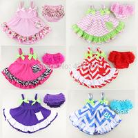 2014 summer little toddler baby girl beautiful flower lolita princess dresses+pants newborn twinset children clothing kids set