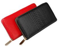 Elegant Multi functional women crocodile grain cowhide clutches purse genuine leather long wallets S1305