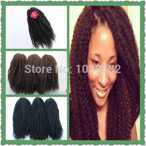 Marley Braiding Hair Extension,Synthetic Afro kinky Bulk Hair,Marley Braiding ,use100% Kanekalon Fiber,big stock,factory price(China (Mainland))