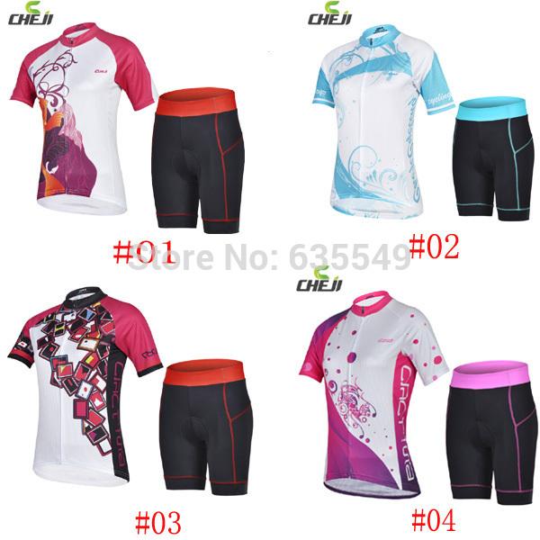 ropa kits cheji mulheres ciclismo camisa de ciclismo feminino maillot calções de ciclismo conjunto 4 opções estilo nacional(China (Mainland))
