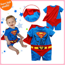2014 new fashion kids boys clothes jumpsuit cartoon cotton batman baby boy rompers cute superman baby girl romper baby clothing(China (Mainland))