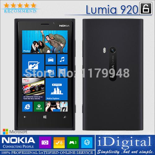 Original Nokia Lumia 920 Unlocked 4.5''IPS Win 8 OS 32GB Dual-Core 1.5GHz 8.7MP 3G NFC GPS SmartPhone Refurbished(China (Mainland))