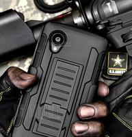 Nexus 5 Case, Future Armor Impact Holster Hybrid Hard Case for Google LG Nexus 5 D820 D821 Cover Belt Clip + Flim + Touch Stylus