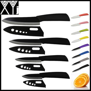 """Фондовый бренд глобальный качество 3 """" 4 """" 5 """" 6 """" - дюймовый керамический нож кухонный нож черный лезвие черный цвета ручка с оболочкой циркония"""