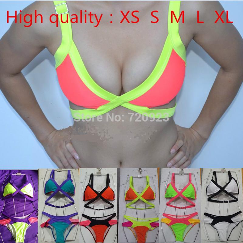 New Arrival Sexy Women Bandage Bra Padded Bikini Strap Halter Swimwear Brand Swimsuit Free Shipping(China (Mainland))