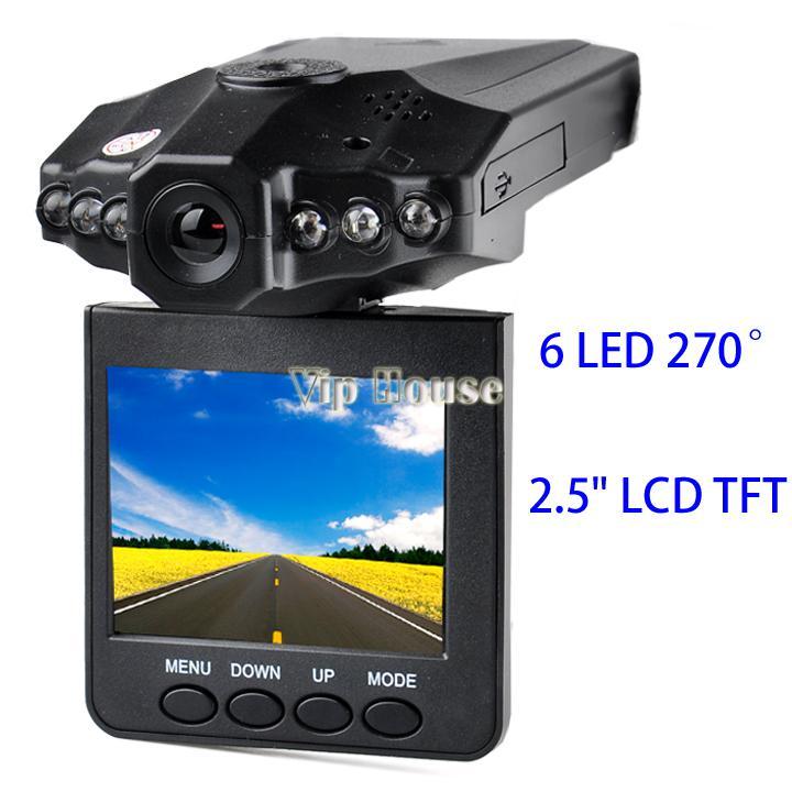 "Portable 2.5"" TFT LCD screen Car DVR 6 IR LED Night vision HD Car Video Recorder Camera with Russian Manual #7 SV000557(China (Mainland))"