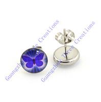 18 pairs 10mm Dark Purple Butterfly Stainless Steel Stud Earrings,Fashion Earring Stud,Stainless Steel Earring #30443
