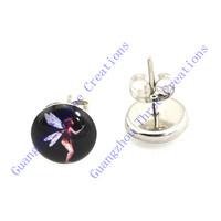 18 pairs 10mm Flower Fairies Stainless Steel Stud Earrings,Fashion Earring Stud,Stainless Steel Earring #30444