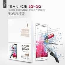 2014 New Premium Tempered Glass Screen Protector for LG G3 Toughened protective film  GDS TITAN With Package