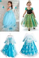 Retail! Children Dress Elsa & Anna Summer Dress For Girl 2015 New Hot Princess Dresses Brand Girls Dress Child Clothing