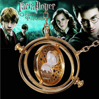 Free Shipping Harry Potter Necklaces Pendants Time Turner Hourglass Jewelry 10pcs/lot (6 Colors to choose)