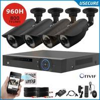 New 4ch 960h cctv system video surveillance camera security system 4pc 800tvl outdoor camera dvr kit hdmi 1080p 4ch NVR HVR