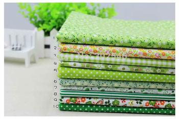 Хлопок Farbic не дизайн зеленый Serier лоскутное жира квартал расслоение швейная для ткани 10 шт./лот 50 см * 50 см A1-10-1