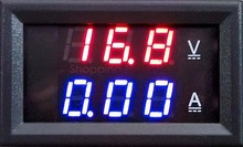 Red Blue LED DC 0-100V 10A Dual Voltage Display Meter Digital Voltmeter Ammeter Panel Amp Volt Gauge #6 TK1382(China (Mainland))