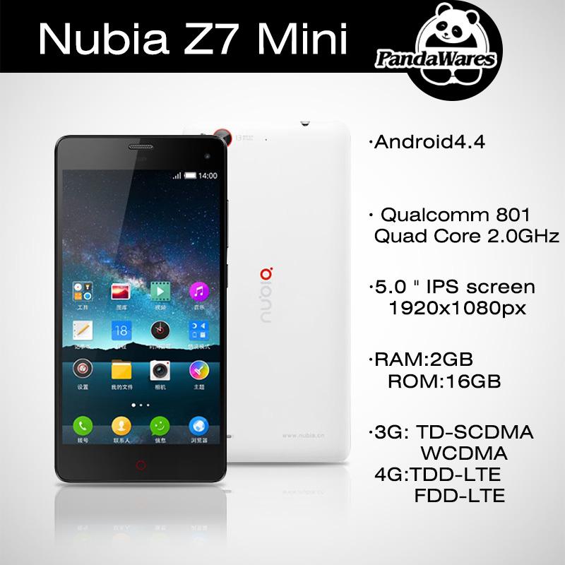 Original ZTE Nubia Z7 Mini 4G LTE Qualcomm Quad Core WCDMA 1920x1080 2GB RAM 16GB ROM Original Nubia Z7 Max Dual SIM Cell Phone(China (Mainland))