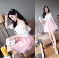2014 Free Shipping Spring Summer Casual Shirts Sleeveless Spaghetti Strap Sexy Chiffon Women Blouses Vest Tank Tops B12 SV006149
