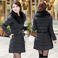 2014 winter women thicken down coat warm long fur coat slim down cotton padded parka womens coat women down jacket SV18 CB031507