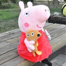 "AliExpress |Caliente venta Freeshipping venta por mayor 7.5"" 19cm Peppa Pig duro lavado Peppa & George Pig mamá & papá cerdo juguetes-Peppa"